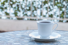Coffee cup in the morning. Stock Photos