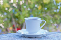 Coffee cup in the morning. Stock Images