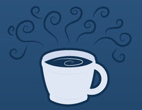 Coffee Cup Mug with Blue Steam Stock Images