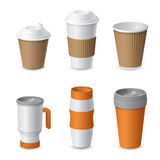 Coffee Cup and Mug Template Mockup for Branding Royalty Free Stock Images