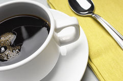 Coffee Cup With Napkin And Spoon Royalty Free Stock Photography