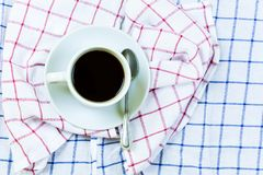 Coffee cup on napkin stock photography