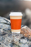 Coffee cup on natural background Royalty Free Stock Images