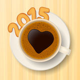 Coffee cup and New Year's cookies Stock Images