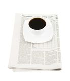 Coffee cup with newspaper Royalty Free Stock Image