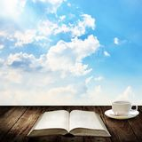 Coffee cup with nice book Stock Photo