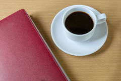 Coffee Cup and note, diary Royalty Free Stock Photo