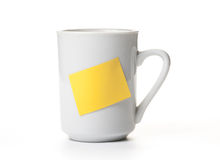 Coffee cup with a note Stock Photography