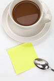 Coffee cup and notes Royalty Free Stock Photography