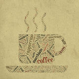 Coffee Cup Of Words Royalty Free Stock Image