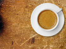 Coffee cup on old wood Stock Photo