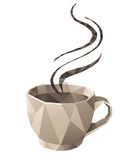 Coffee cup. In origami style Royalty Free Stock Photography