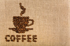Coffee cup over canvas background Royalty Free Stock Photo