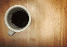 Coffee Cup Overhead Stock Image