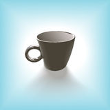 Coffee cup. Paper cup of coffee on blue background Royalty Free Stock Photography