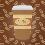 Coffee cup Paper. Pattern vector Stock Photography