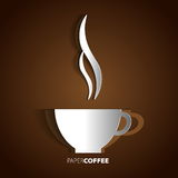 Coffee cup papercut  card symbol Royalty Free Stock Photos