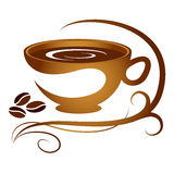 Coffee cup with pattern royalty free illustration