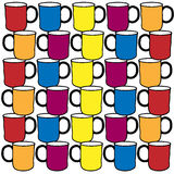 Coffee cup pattern design Stock Images
