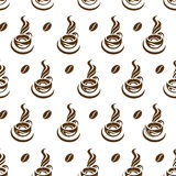 Coffee cup pattern Royalty Free Stock Photography