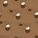 Coffee and cup pattern Stock Images