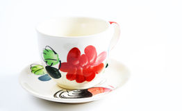 Coffee cup pattern. Coffee cup with stripes on the market Royalty Free Stock Images