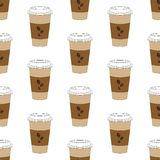 Coffee cup pattern Stock Images