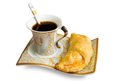 Coffee cup and pie, Breakfast Royalty Free Stock Photos
