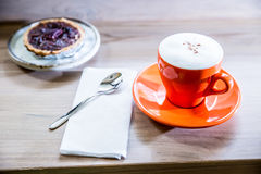 Coffee Cup and  pie. Breakfast Royalty Free Stock Photography