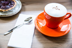Coffee Cup and  pie. Breakfast Royalty Free Stock Images