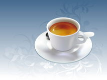 Coffee cup on plate Royalty Free Stock Photo