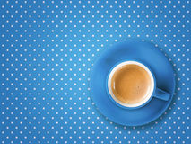 Coffee cup pois Stock Image