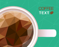 Coffee cup polygonal style background Royalty Free Stock Image