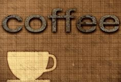 Coffee poster Stock Photography