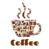 Coffee cup poster for drink and food theme design Stock Photos