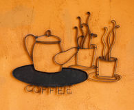 Coffee cup and pot logo Stock Photography