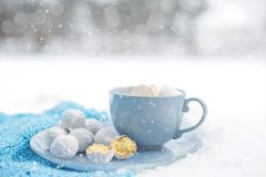 Coffee Cup, Powdered Sugar, Cup, Tableware Stock Image