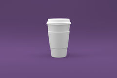 Coffee Cup Ready For Your Logo. A Coffee Cup that is ready for your logo Royalty Free Stock Photos