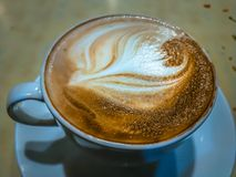 A Coffee Cup at the restaurant royalty free stock photos