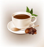 Coffee cup retro style vector design Royalty Free Stock Photo