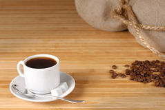 Coffee cup and roasted beans Stock Photo