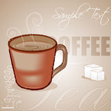 Coffee cup with sample text Stock Images