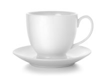 Coffee cup and saucer. Isolated on white background. Path Royalty Free Stock Image