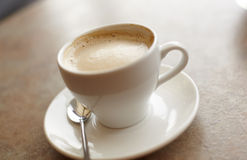 Coffee cup on saucer Stock Photo