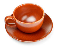 Coffee cup with saucer Stock Image