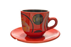 Coffee Cup on a saucer. Stock Photo