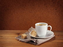 Coffee cup and saucer Royalty Free Stock Images
