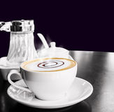 Coffee cup and saucer Stock Photos