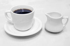 Coffee Cup Saucer and Creamer Royalty Free Stock Photography