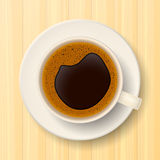 Coffee cup on saucer Royalty Free Stock Photos
